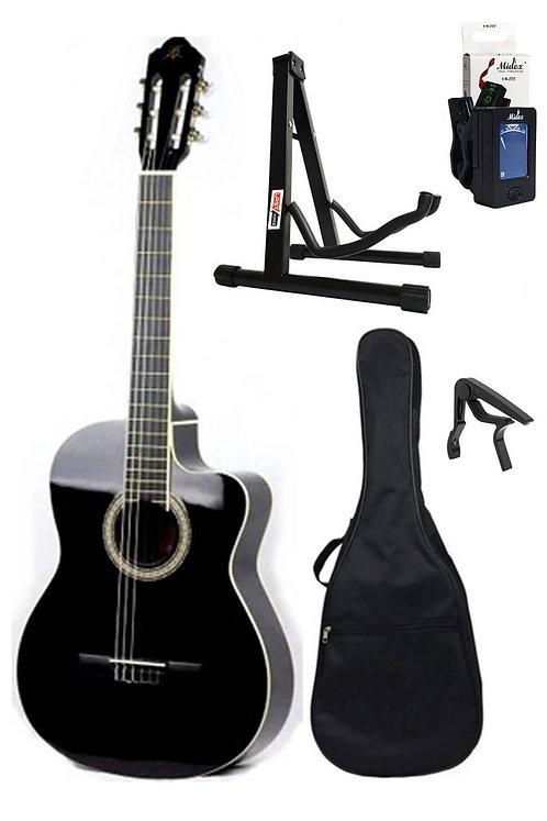 Barcelona Lc 3900 Cbk Paket Siyah Klasik Gitar (Stand Tuner Kılıf