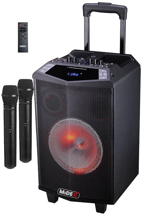 Midex MXR-600 Taşınabilir Seyyar Mikrofonlu Akülü Ses Sistemi Hoparlör 600 Watt