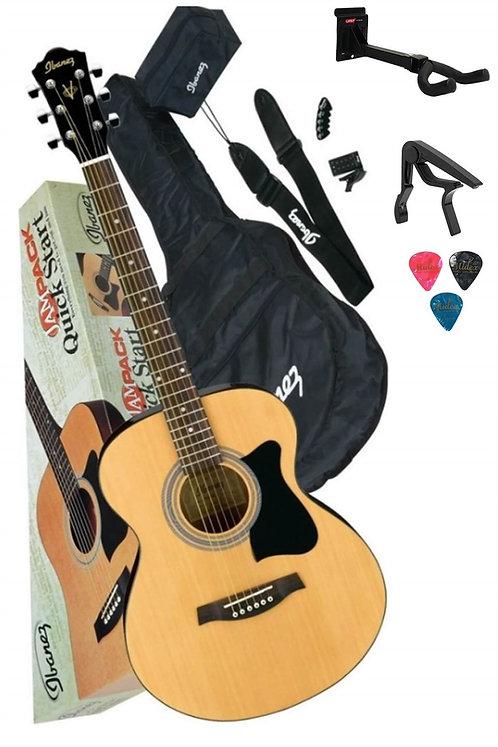 İbanez V50NJP-NT Akustik Gitar Seti (Stand Capo Tuner Kılıf Askı