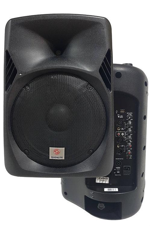 Quenlite QX-800P Bluetooth Usb Aktif Kabin Hoparlör 12 İnç 800 Watt