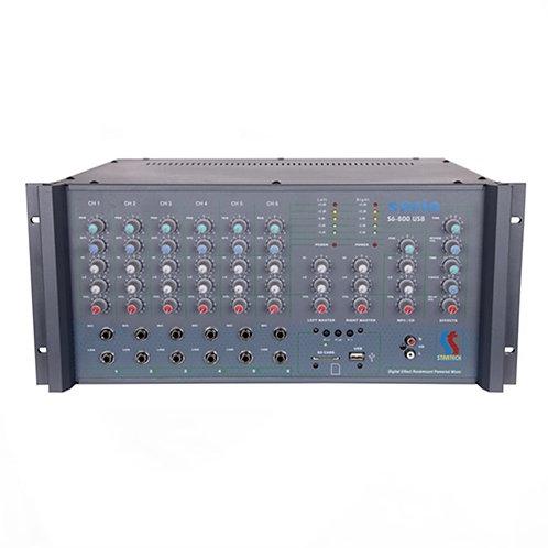 Startech Safir SR 6/800 USB Power Mikser Cami Anfisi 2x400 Watt Ekho Reverb'li