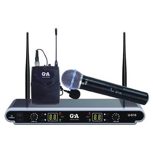 Gold Audio U-616EY EL ve Yaka Tipi Telsiz Kablosuz Mikrofon