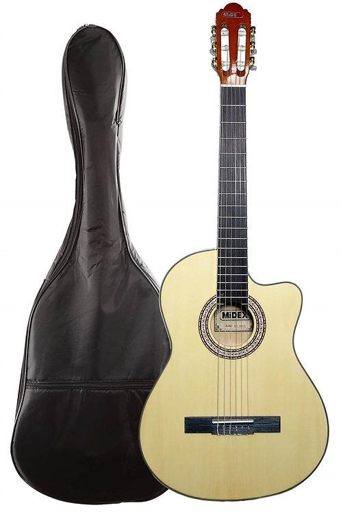 Midex MGX-100CNT Üst Seviye Klasik Gitar 4/4 Sap Ayarlı Gül Klavye