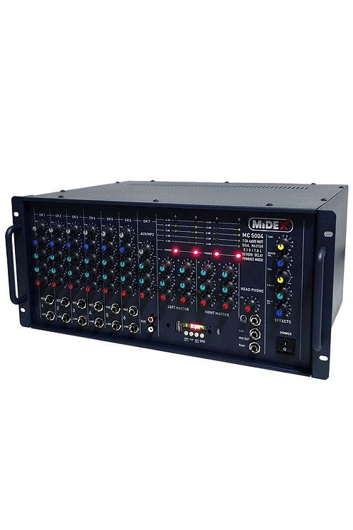 Midex MC-5004 Küp Mikser Anfi 4 Çıkışlı Amfi 2000 Watt (4x500W)