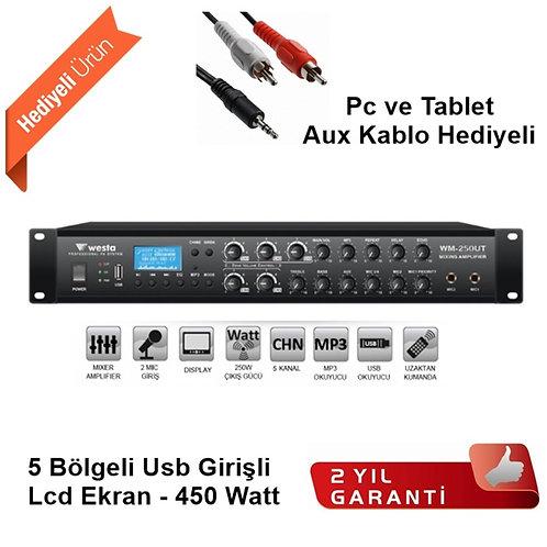Westa WM-450 UT Anfi 450 Watt USB /MP3 5 Bölge