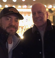 Producer Dano Katzman & Bruce Willis - C
