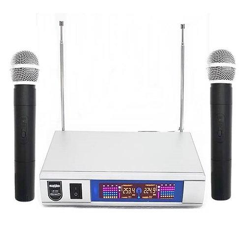 Lastvoice Lm-222EE Çiftli EL Telsiz Kablosuz Mikrofon