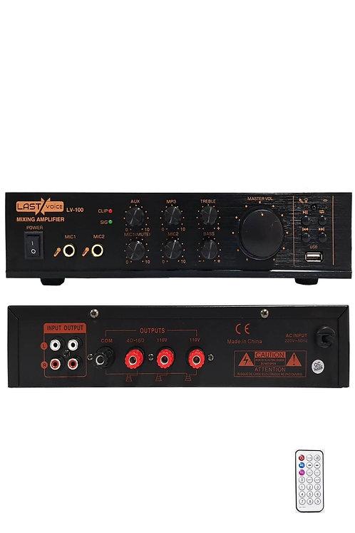 Lastvoice Lv-100 Anfi Hat Trafolu / 4-16 Ohm Bluetooth Usb MP3
