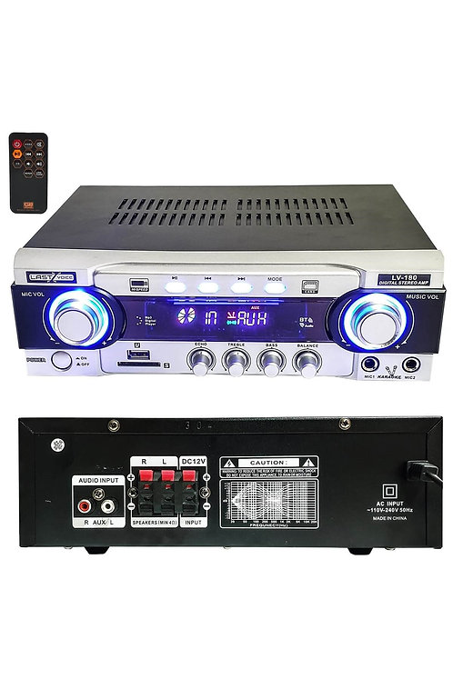 Lastvoice Lv-180 Stereo Mikser Anfi 2x80 Watt Usb Mp3 12/220V