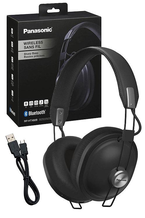 Panasonic RP-HTX80BE-K Kablosuz Bluetooth Kulak Üstü Kulaklık (Siyah)
