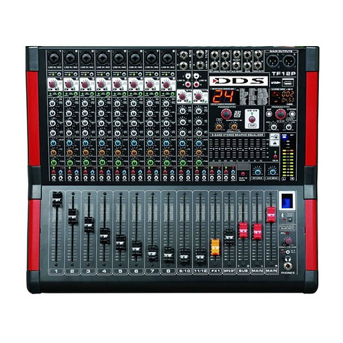 DDS D-12 P-3000FX Power Mikser Amfi 2x1500 Watt 12 Kanal