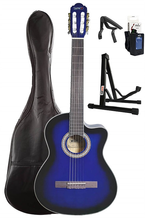 Midex MGX-100CBL SET Üst Seviye Klasik Gitar 4/4 Sap Ayarlı (Kılı