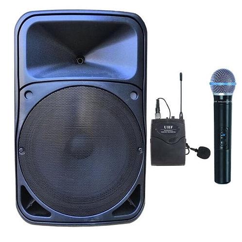 Gold Audio Pro 5415EY Taşınabilir Ses Sistemi EL Yaka Mikrofonlu