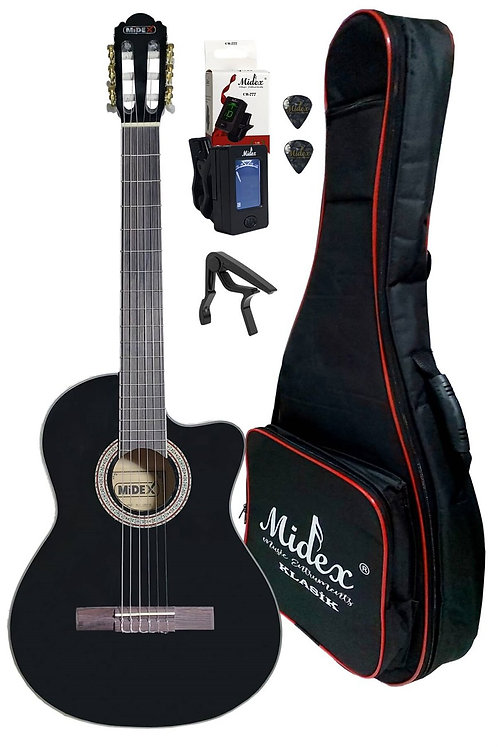 Midex MGX-100XBK CS Üst Segment Klasik Gitar 4/4 Sap Ayarlı (Soft