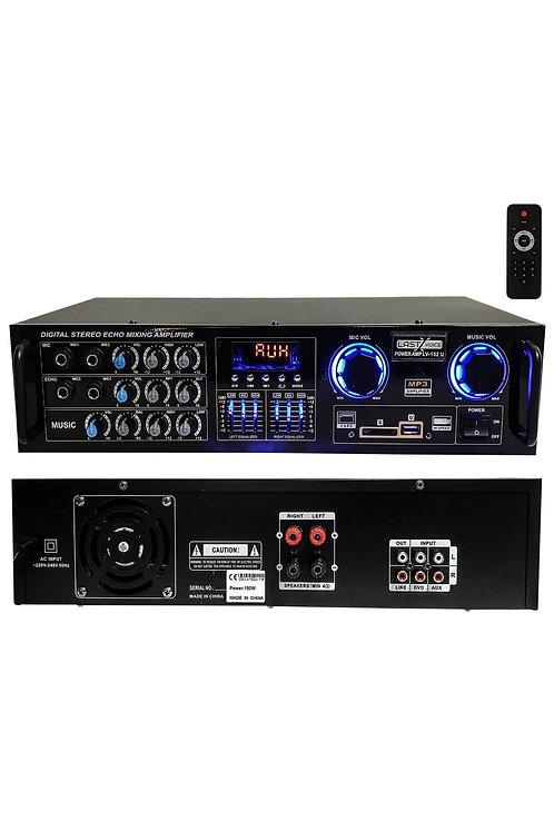 Lastvoice Lv-152U Ekolayzer'lı Stereo Mikser Anfi 2x150 Watt 4-16 Ohm
