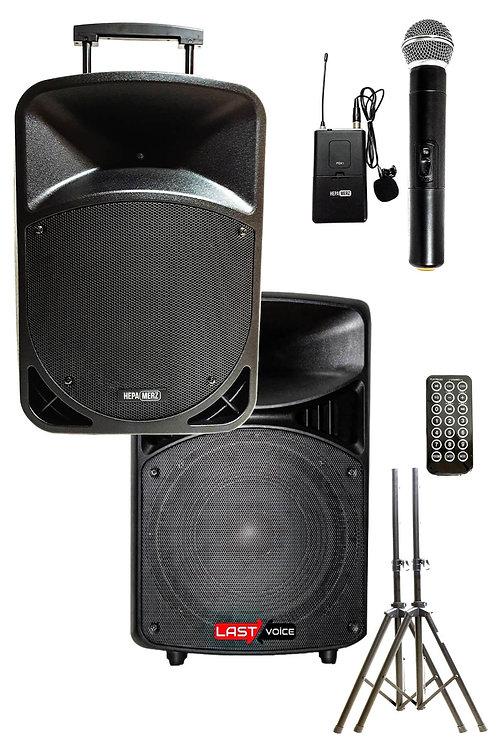 Hepa Merz HS-800B Set Taşınabilir Ses Sistemi 800W + 600W 2'li Set