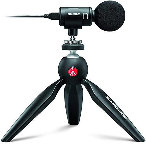 Shure MOTIV MV88+ Video Kit Digital Stereo Microphone and Accessories for Smartp
