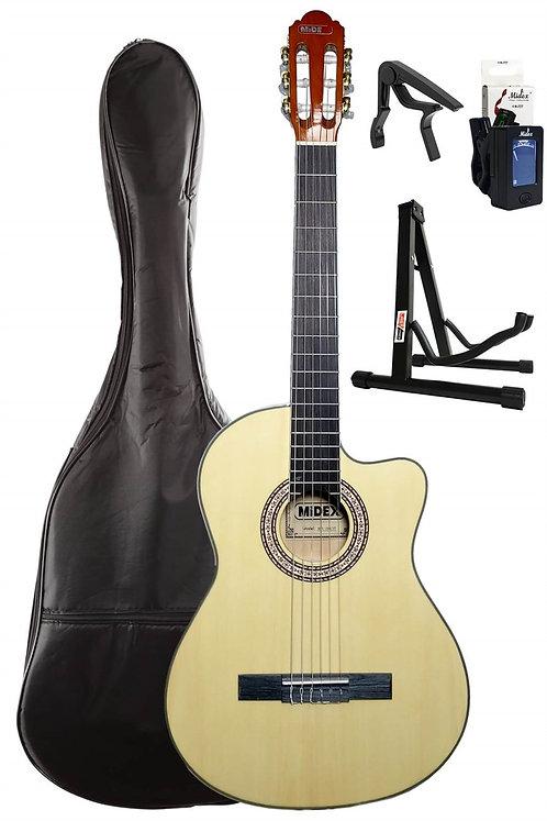 Midex MGX-100CNT SET Üst Seviye Klasik Gitar 4/4 Sap Ayarlı (Kılıf Stand Tuner C