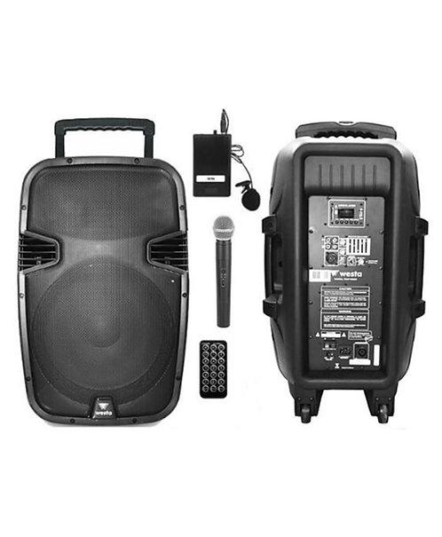 Westa Wap-15502ET - Seyyar Portatif Taşınabilir Ses Sistemi EL+Yaka