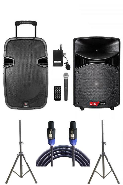 Westa Wap - 15502B - Set Taşınabilir Ses Sistemi 300W + 800W 2'li Set