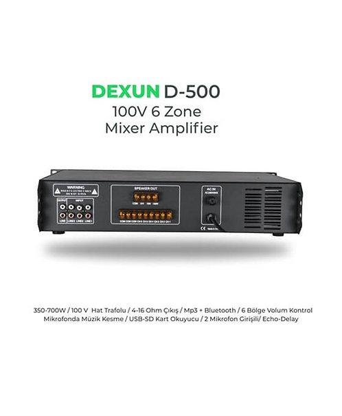 Dexun D-500 100V 700 Watt 6 Bölgeli Mikser Anfi