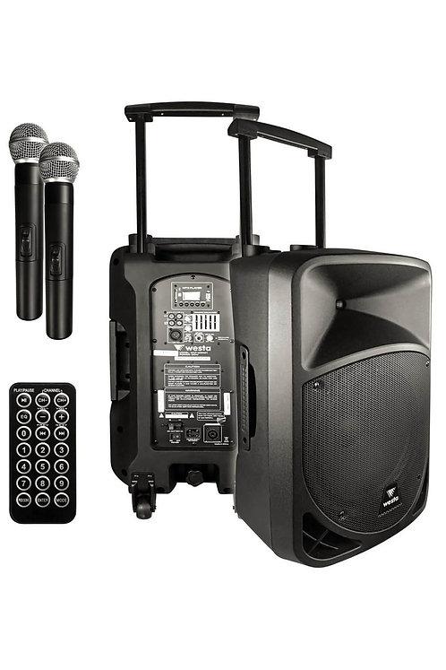 Westa Wap-12502T - Seyyar Portatif Ses Sistemi EL+EL