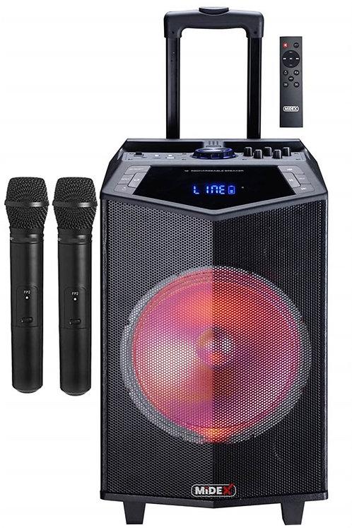 Midex MXR-1000 Taşınabilir Seyyar Mikrofonlu Akülü Ses Sistemi Hoparlör 1000 Wat