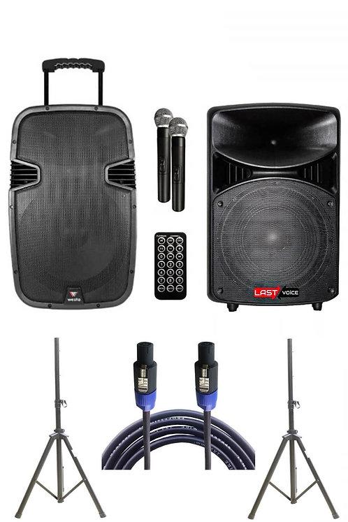 Westa Wap - 15502A - Set Taşınabilir Ses Sistemi 300W +800W 2'li Set
