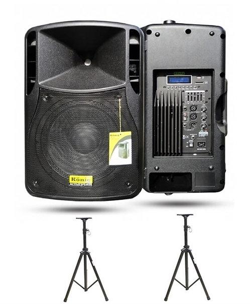König Aktif Hoparlör +Pasif Hoparlör +Set-1 ( 600 + 300 Watt )