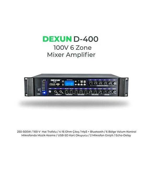 Dexun D-400 100V 500 Watt 6 Bölgeli Mikser Anfi