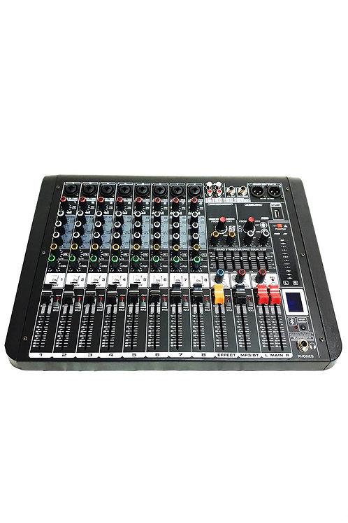 Midex MDX-8 8 Kanal Ses MikseriEfekt Bluetooth EQ Usb