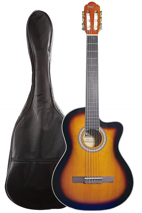 Midex MGX-100CSB Üst Seviye Klasik Gitar 4/4 Sap Ayarlı Gül Klavye