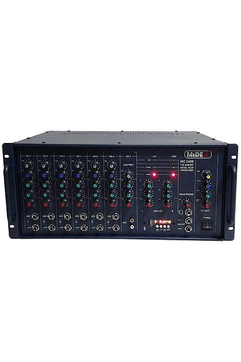 Midex MC-2400 Stereo Küp Mikser Anfi Ekholu 800 Watt (2x400W) Usb Bt