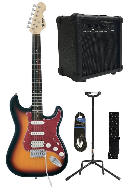 Midex Ph-x Sunset Paket Elektro Gitar Set (Gitar Amfisi + Stand +