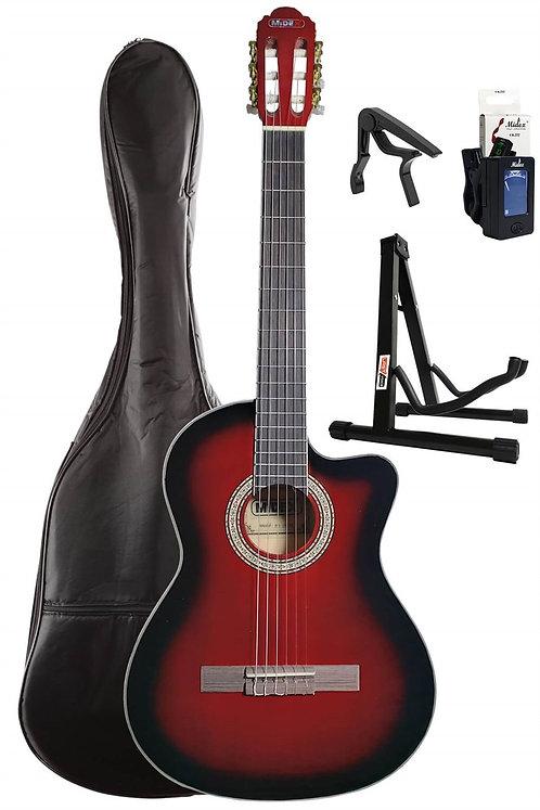 Midex MGX-100CRD SET Üst Seviye Klasik Gitar 4/4 Sap Ayarlı (Kılı