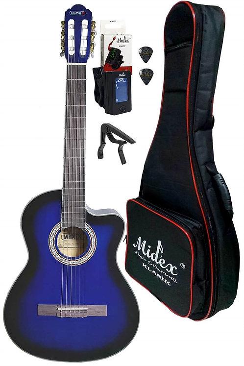 Midex MGX-100XBL CS Üst Segment Klasik Gitar 4/4 Sap Ayarlı (Softcase