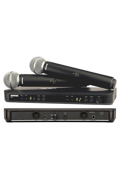 Shure -BLX288E/SM58 Kablosuz SM58 El Mikrofonu Sistemi