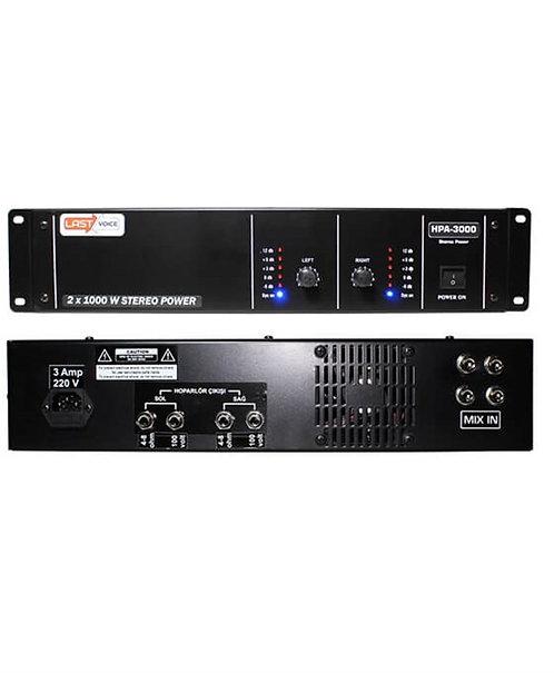 Lastvoice Hpa-3000 Power Anfi 2x1000 Watt 100V Hat Trafolu