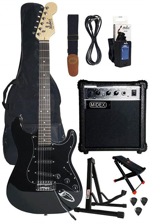 Midex RPH20-AMP Black Set Elektro Gitar (Amfi, Askı, Stand, Tuner