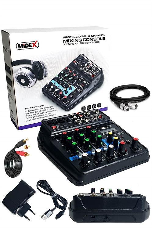 Lastvoice Midex Mdx-999 Ses Kartlı +48v Phantomlu Kayıt Mikseri