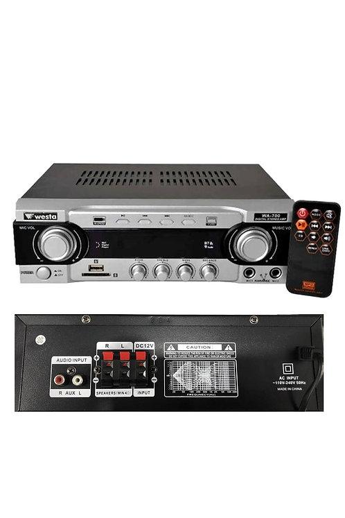 Westa WA-700 Stereo Mikser Anfi 2x50 Watt Usb Mp3 12/220V