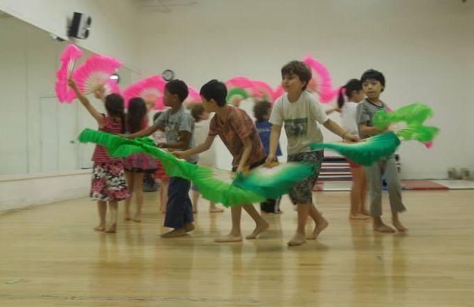 Group Fan Dance