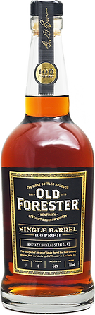 Old Forester 100 proof single barrel by WHA