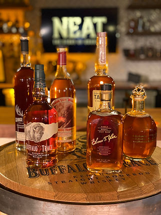 NEAT Buffalo Trace whiskey