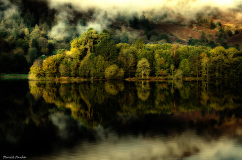 Reflection on Grasmere-Lake District-By