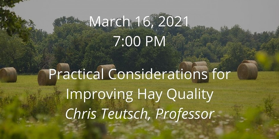 Beef Webinar Series: Practicial Considerations for Improving Hay Quality