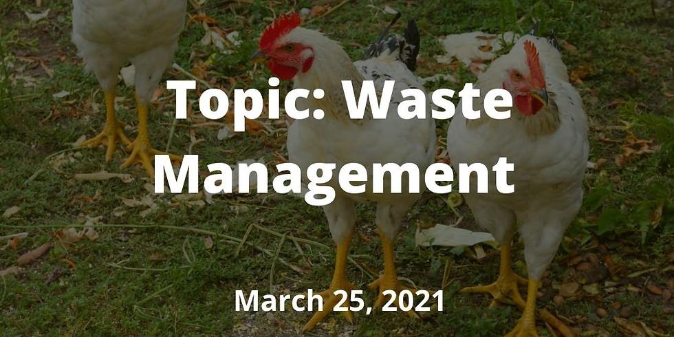Kentucky Small Flocks Webinar Series: Waste Management