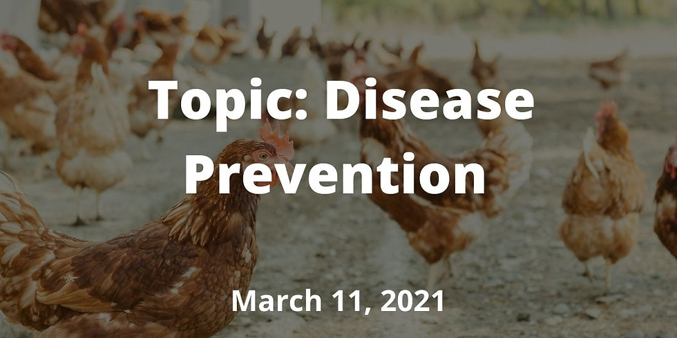 Kentucky Small Flocks Webinar Series: Disease Prevention
