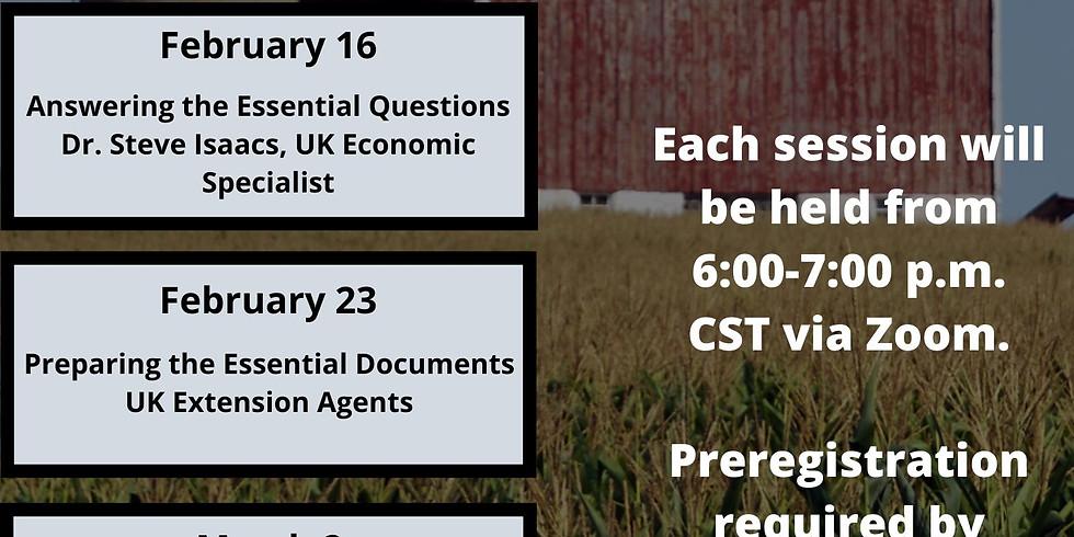 Farm Transitions Webinar Series: Creating Essential Workshops