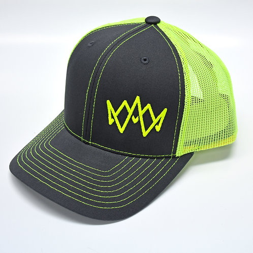 Keen of the Beach | 2 Tone Trucker Cap - NEON YELLOW